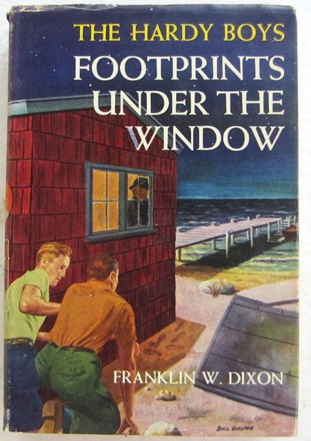 Hardy Boys #12 FOOTPRINTS UNDER THE WINDOW Franklin W Dixon Dust Jacket