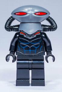 Flat Silver Helmet Rare LEGO Black Manta Minifigure 76027 DC Super Heroes