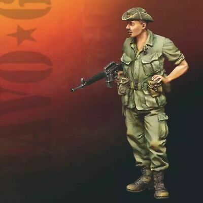 Unpainted 1//35 US Soldier Vietnam War Resin Figure Model Kit Unassembled