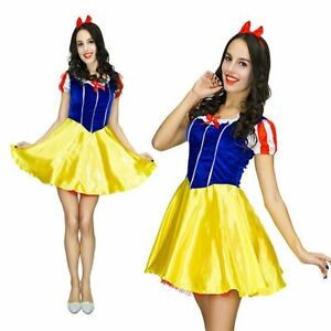 Snow White Ladies Fancy Dress Fairy Tale Princess Adults Book Day Costume Outfit