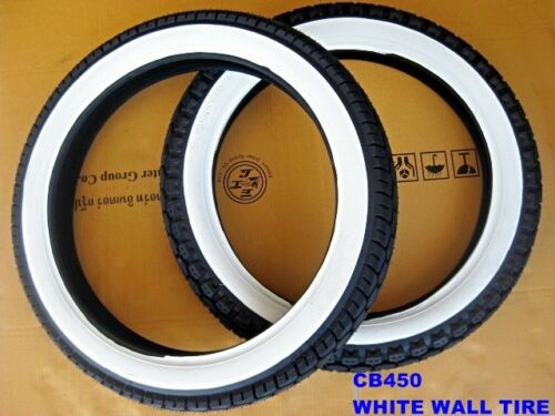 HONDA DREAM CB450 3.25-18 /& 3.50-18 WHITE WALL TIRE TYRES SET DOT. mi01