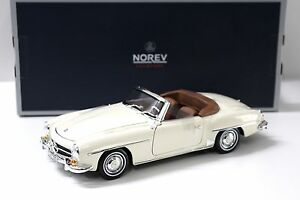 1-18-norev-mercedes-190sl-cabriolet-1957-beige-Ivory-New-en-Premium-modelcars