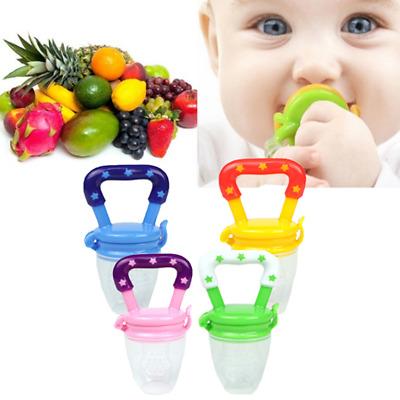 Newborn Infant Baby Boys Girls Teething Toys Soft Silicone Fruit Teether Holder