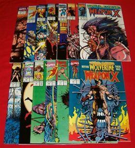 MARVEL-COMICS-PRESENTS-WOLVERINE-WEAPON-X-72-84-SET-X-MEN-BARRY-SMITH-1991-NM