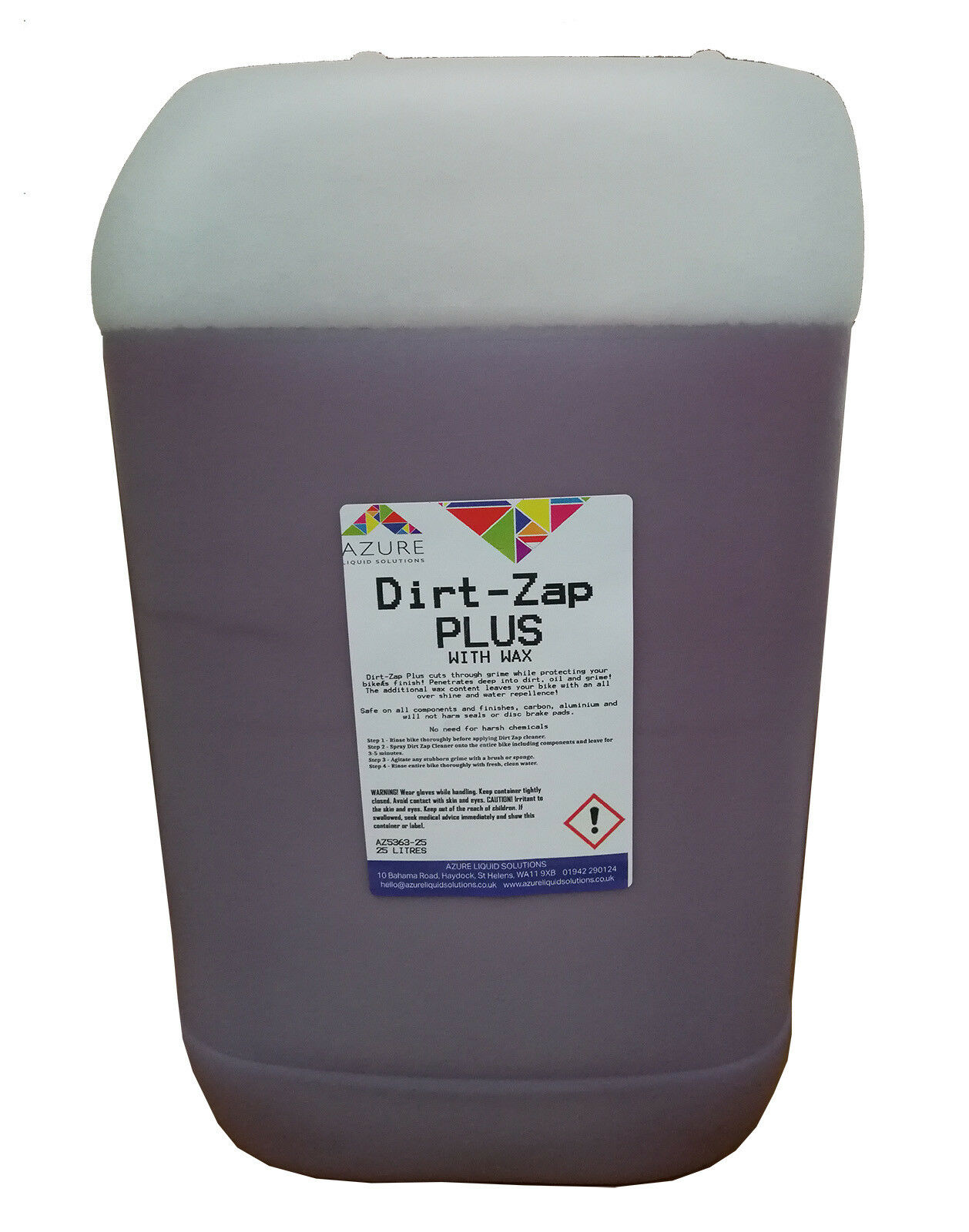 Dirt-Zap Plus With Wax Gets Muc Off Fast Bike Cleaner Shines & Predects - 25L