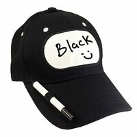 Billy Bob Billboard Hat - Dry Erase W/ Marker Adjustable Baseball Cap Black