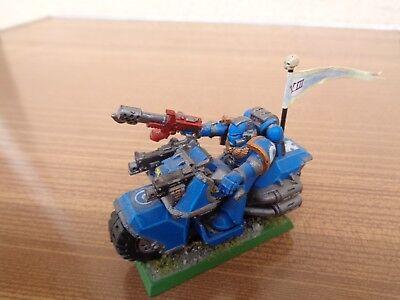 Warhammer 40k Space Marines Bike Oop Painted Plastic Durevole In Uso