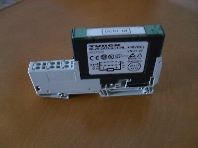 -10//0...+10VDC Used Turck BL20-2AO-U 6827033 Electronic Module 2 Analog Outputs