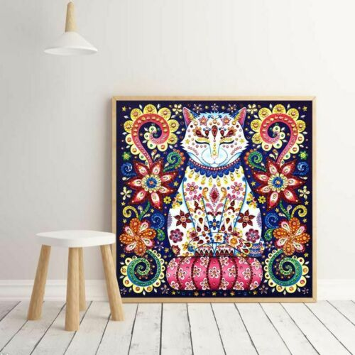 Cat 5D Special Shaped Diamond Painting Embroidery Cross Craft Stitch Kit DIY
