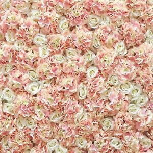 Peach Wedding Flower Wall Hire Artificial Backdrop 10ft X