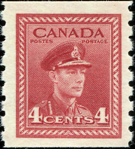Canada-Scott-267-King-George-VI-War-Issue-Coil-Stamp-VF-MH-OG-19435