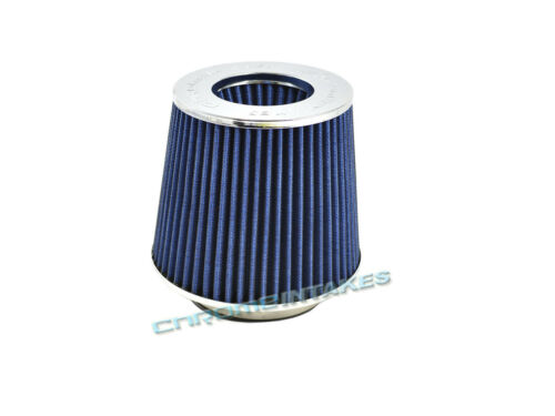 """BLUE UNIVERSAL 2.75/"""" 70mm FLANGE CONE AIR FILTER FOR AUDI SHORT//COLD AIR INTAKE"""