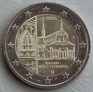2 euro germania a 2013 baden w rttemberg maulbronn unz ebay. Black Bedroom Furniture Sets. Home Design Ideas