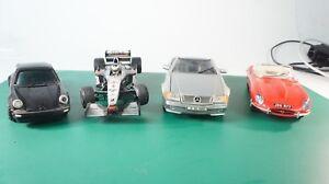 Burago-jaguar-e-diverse-mercedes-500sl-Porsche-radio-coches-de-carreras-1-18-Scala-m-1440
