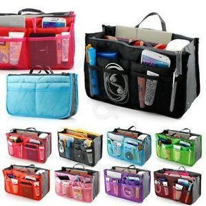 Women-Girls-Travel-Insert-Handbag-Organiser-Purse-Large-Liner-Organizer-Tidy-Bag