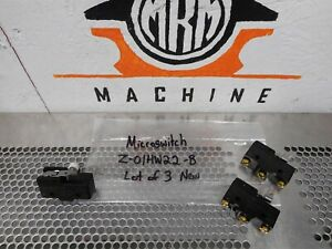 Details about Micro Switch Z-01HW22-B Basic Switch 1A 125VAC New Old Stock  (Lot of 3)