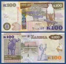 SAMBIA / ZAMBIA 100 Kwacha 2012 UNC  P. 54 a