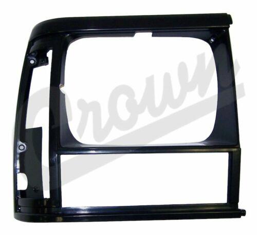 Black Right Headlight Bezel Fits Jeep 1991 To 1996 XJ Cherokee Crn-55054930