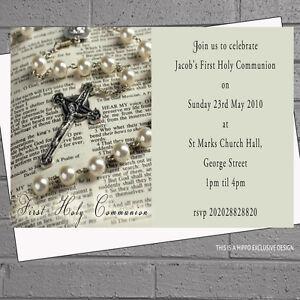 First Holy Communion Invitations Boys Girls 1st X 12 Envs H0632 Ebay
