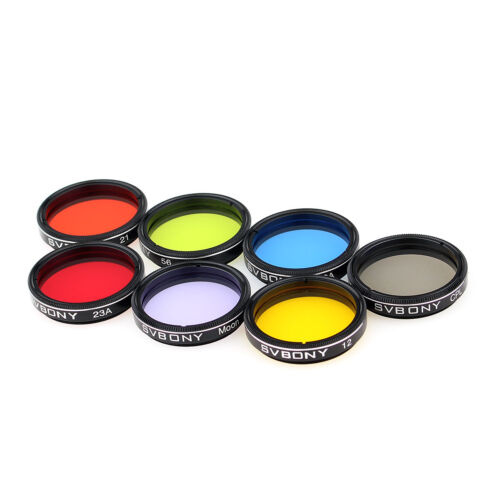 """Moon Filters Kit for Telescope DE 1.25/"""" Eyepieces Filter Set Colored Planetary"""