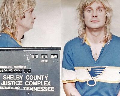 1984 Singer OZZY OSBOURNE Glossy Mugshot 8x10 Photo Print Memphis, Tenn Poster