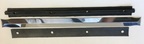 1939-1946 Chevy GMC TRUCK POLISHED aluminum windshield center divider w backer