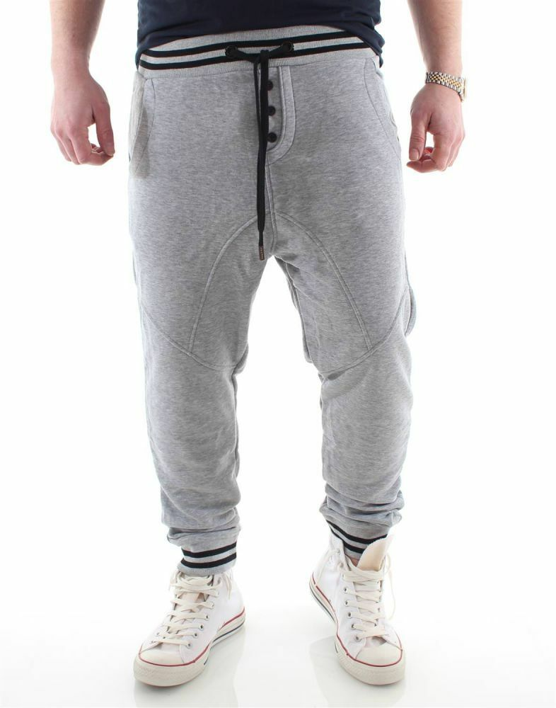 Young & Rich Low Credch Jogginghose grey