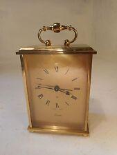 Swiza 8 day Brass cased Carriage Alarm Clock     ref 3002