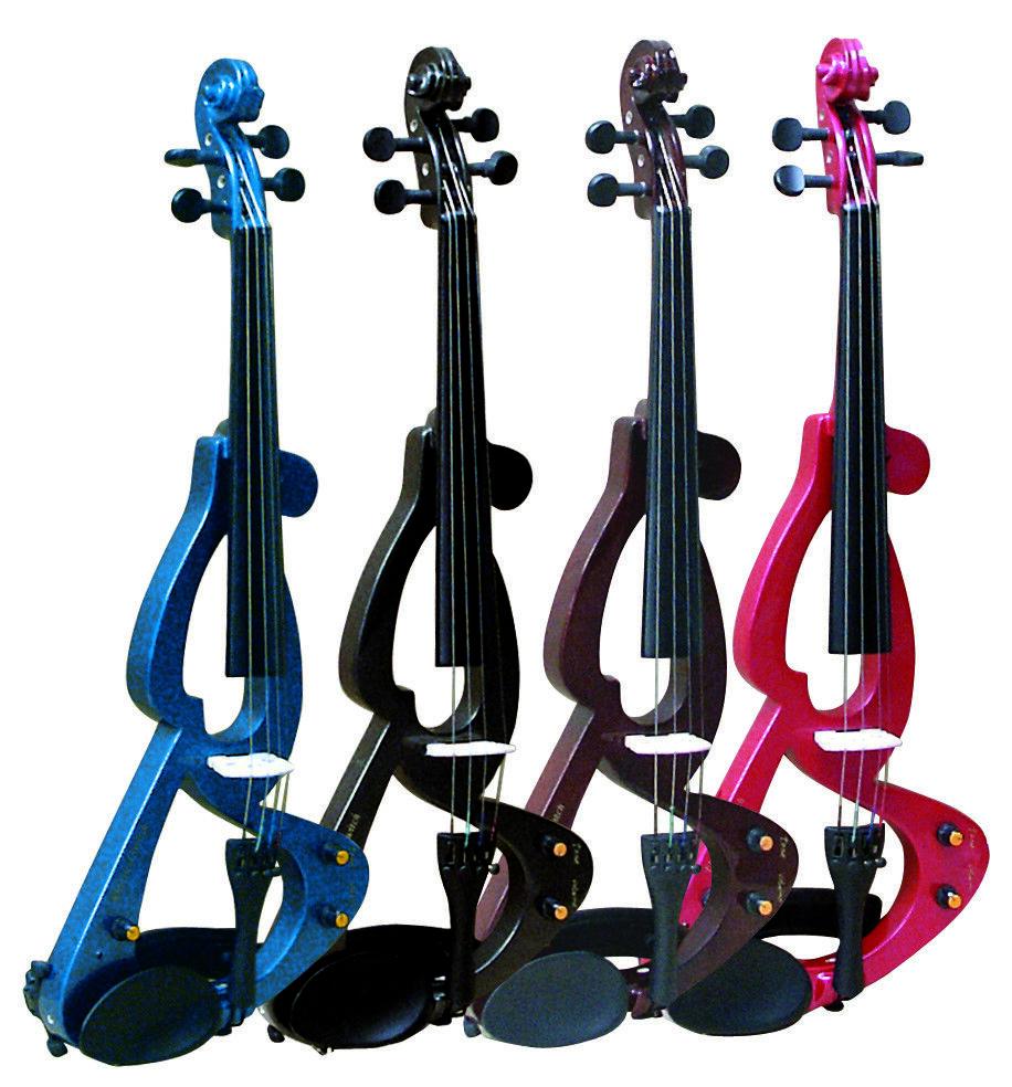 E-violín e-violín e-violín e-violín 4 4, con accesorios-en el set, bonitos Colors-Top oferta  n  los nuevos estilos calientes