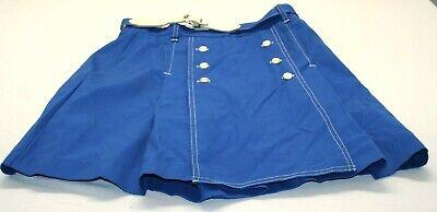 1970\u2019s Blue Pleated Skirt
