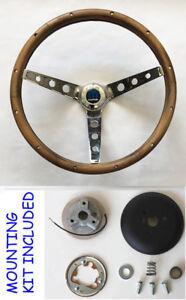 """1964-1966 Pontiac GTO steering wheel 13 1//2/"""" WALNUT Grant steering wheel"""