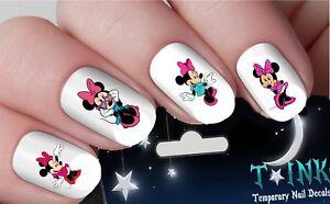 Nail-Decals-Stickers-Disney-Minnie-Mouse-pink-NAIL-ART-transfers-nail-tattoo-14