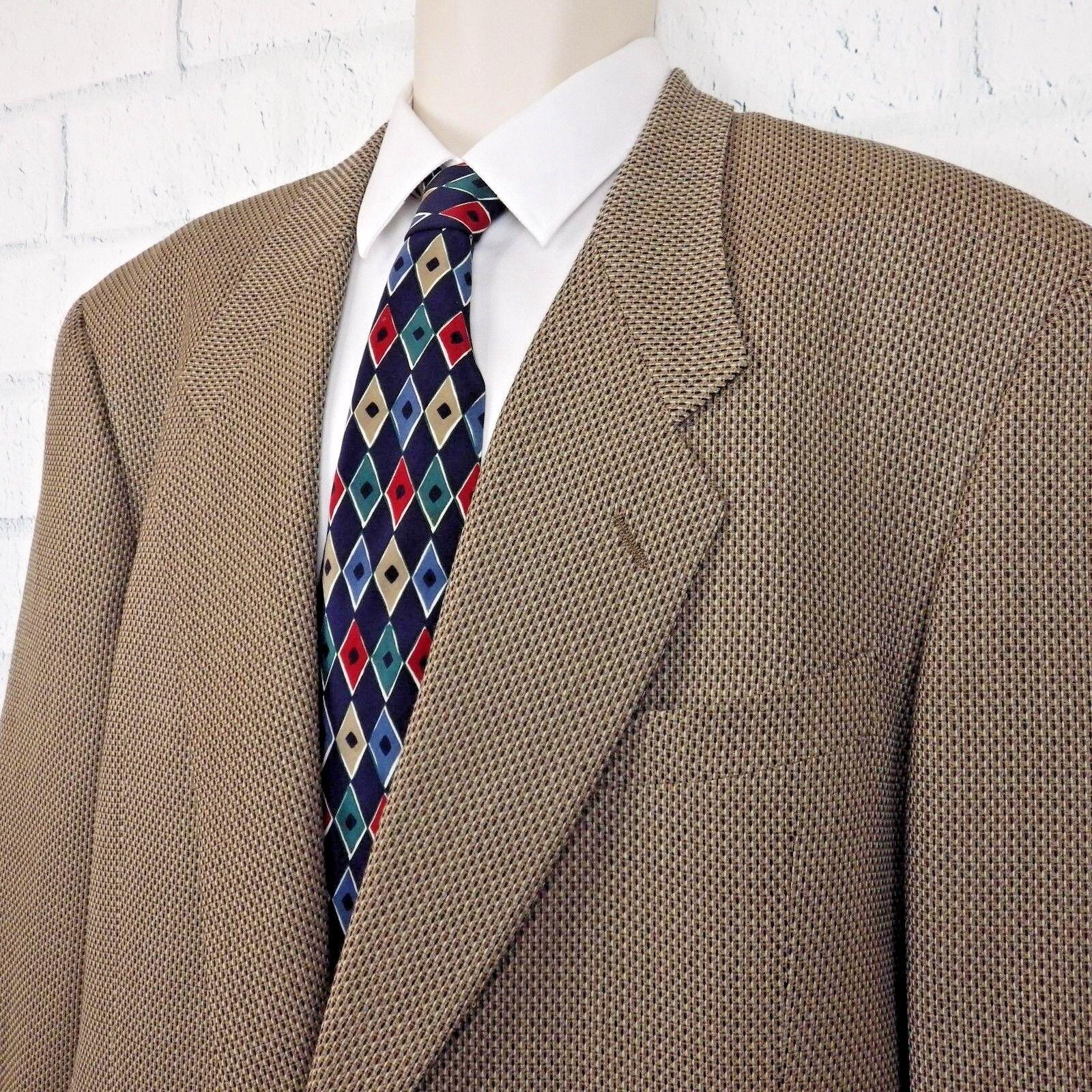 Giorgio Armani gold Le Colleczioni Made In  Wool 2 Button Sport Coat 44L