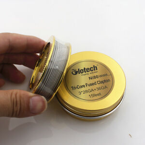 Glotech Tri Core Fused Clapton Heating Wire Ni80 Wire for