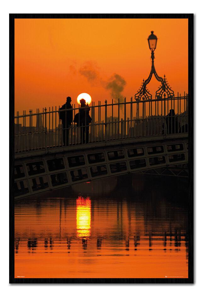 Dublino Irlanda mezzo penny penny penny Bridge SUNSET MAGNETICO tabellone include MAGNETI 74f97e