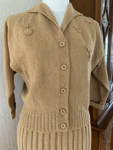 Vintage 1940's Kimberly Knit Sweater And Skirt Set