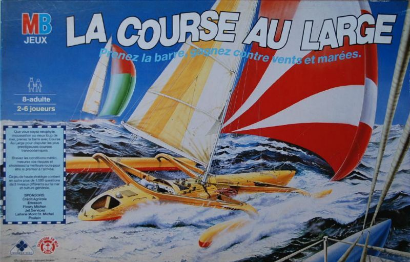 Board game the offshore racing-maritime game-mb games - 1987