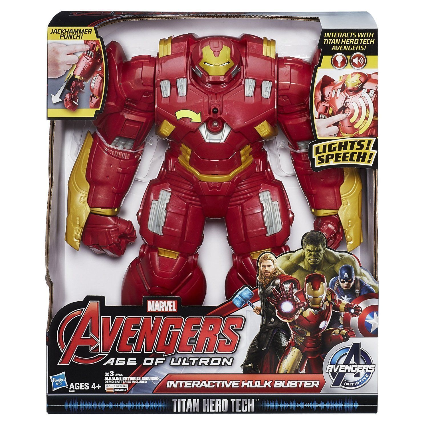 Hulk Buster IRON MAN MAN MAN Marvel Avengers Age Of Ultron Interactive NEW TALKS  c92e53
