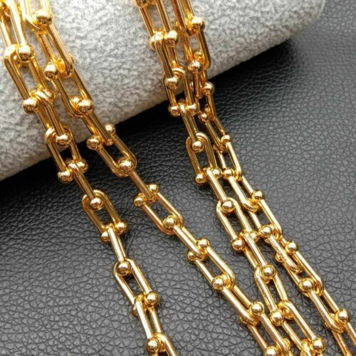 1 meters 18k gold plated Link Chains For Jewelry Making DIY Supplies Chain
