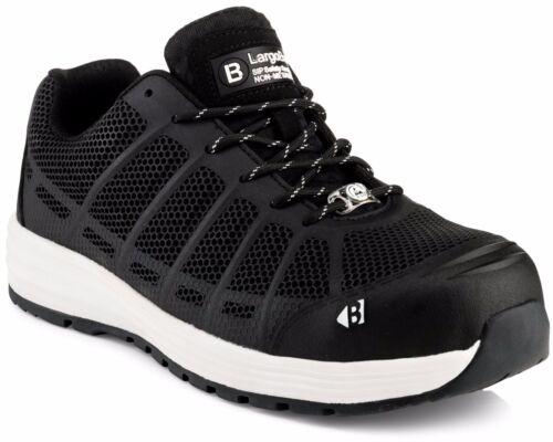 Buckler KEZ Safety Work Trainer Shoes Black Sizes 6-13 Men/'s Steel Toe Cap