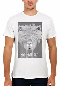 Bad-Hair-Day-LLama-Lama-Hipster-Funny-Men-Women-Vest-Tank-Top-Unisex-T-Shirt-329