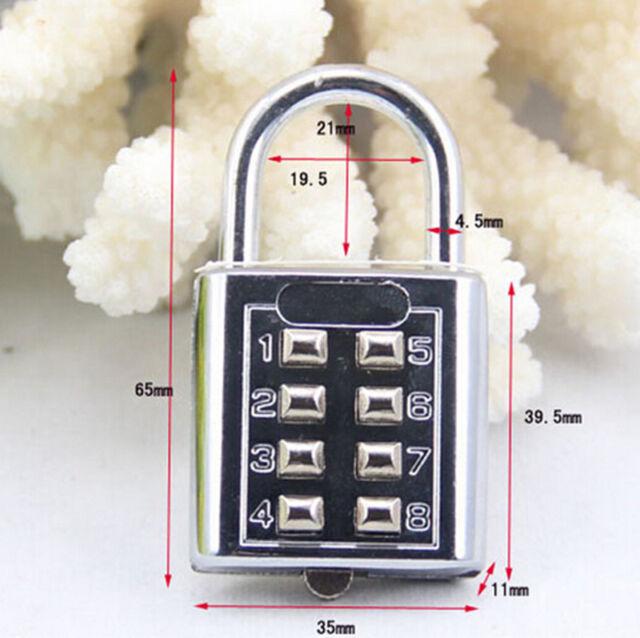 1pc Code Lock 5 Digit Push-button Combination Number Luggage Travel Code Lock Padlock Silver Hasps & Locks