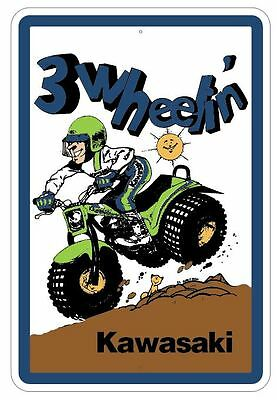 Kawasaki KLT  Novelty Aluminuim Sign  ATC 110 185 200 220 250 KLT185