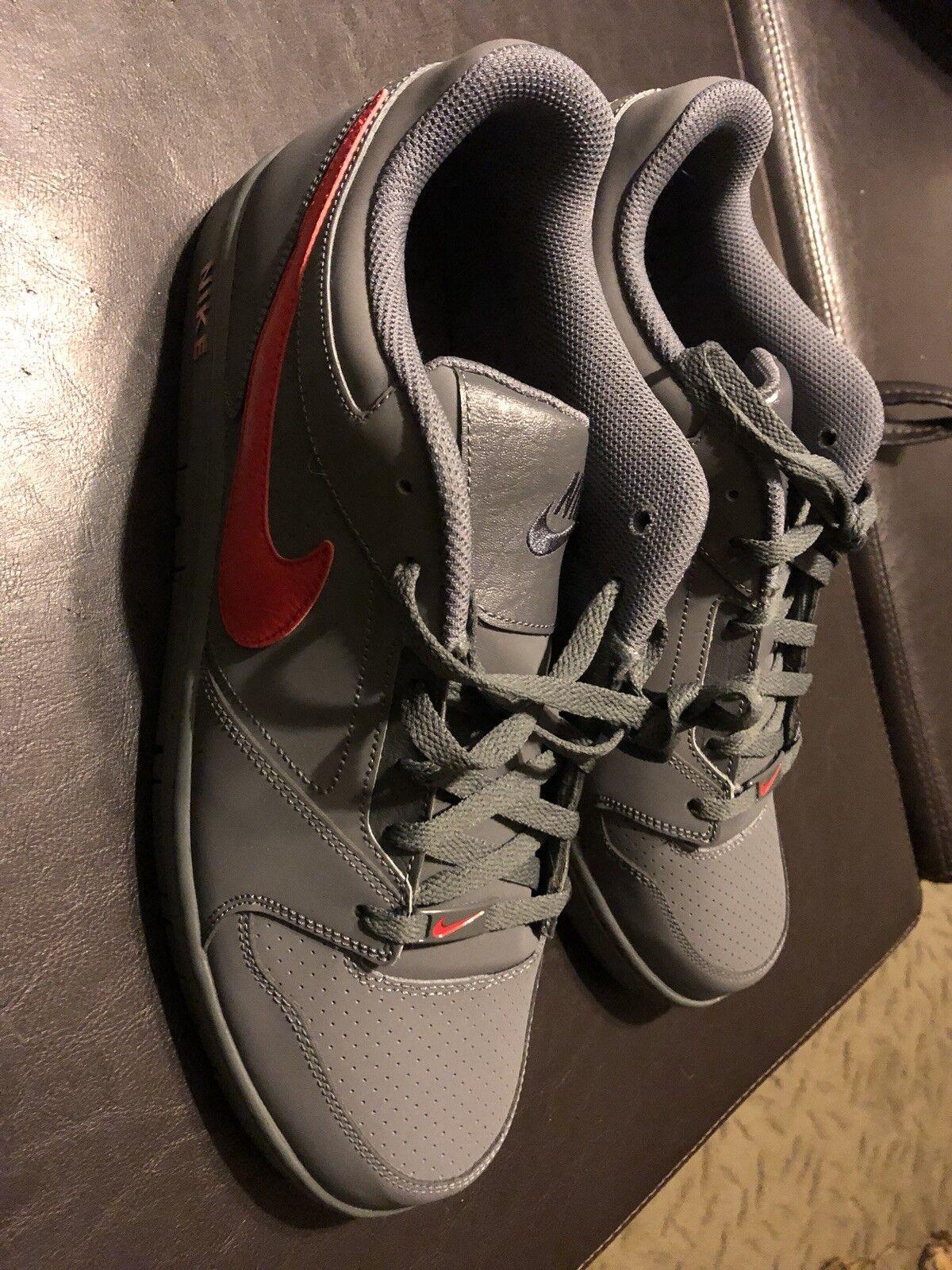 Nike Prestige IV Low Grey Red Size 13 NEW