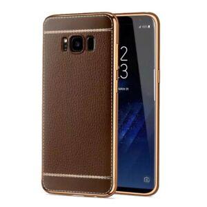 Samsung-Galaxy-S7-Edge-Huelle-Case-Handy-Cover-Schutz-Tasche-Schutzhuelle-Braun