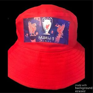 5677f33f5 Details about Champions League Final 2019 Liverpool FC Bucket Hat Madrid LFC