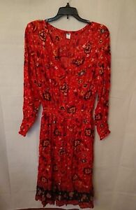 Women-039-s-Long-Flowing-Mahogany-Floral-Old-Navy-Dress-Size-Medium
