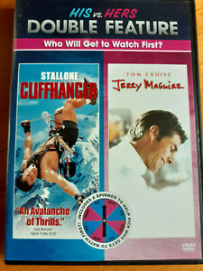 Cliffhanger-amp-Jerry-Maguire-His-VS-Hers-With-spinner-double-pack-VG-DVD-MOVIE