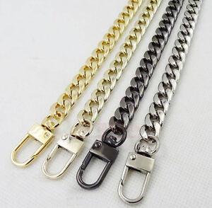 Purse Bag Strap Crossbody Replacement DIY Shoulder Handbag Handle Metal Chain HS