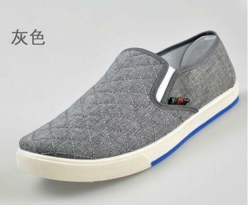 Mens Slip On Loafers Canvas Shoes Breathable Casual Shoes Driving Shoes